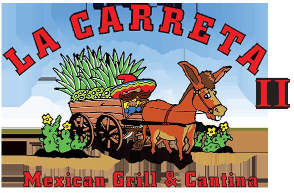 La Carreta ii Logo, Donkey pullling a wagon man steering