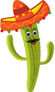 cactus man, cactus smiling with sombrero hat