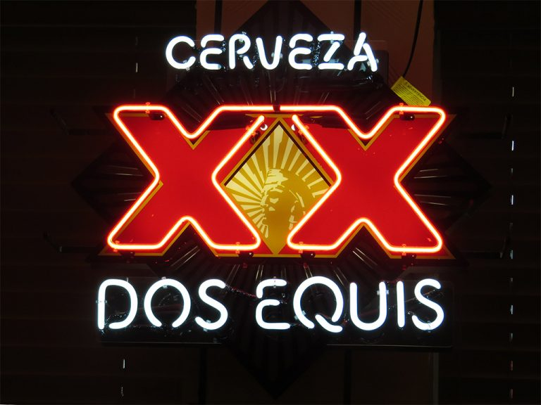 Cerveza Dos Equis XXX Neon sign
