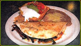 Fajita Quesadilla, plate