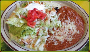 Soft or Fried Chimichanga, plate