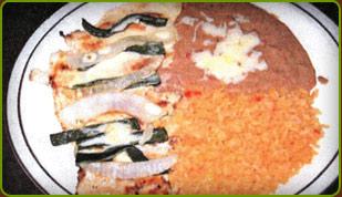 Pollo Poblano, plate